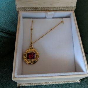 Lili Claspe Vita Coin necklace in ruby